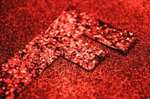 fine and large red glitter fabric