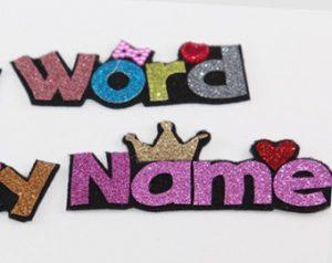 glitter letters