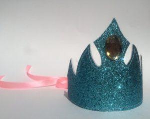 blue glitter crown