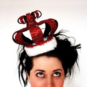 red glitter crown