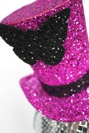 cerise glitter top hat
