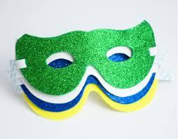 kids glitter mask