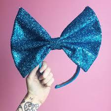 massive glitter fabric bow