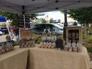 hessian market stall