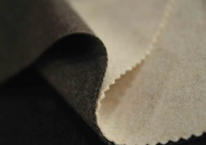 brown and beige Italian Melton wool fabric