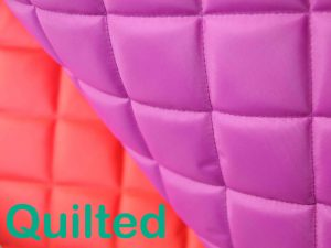pink waterproof quilted fabric