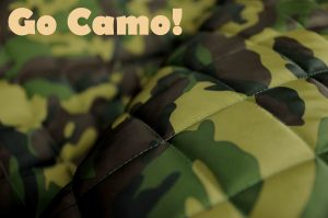 camouflage quilted waterproof fabric