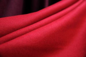 red Italian Melton wool fabric