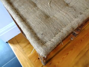 traditional hessian upholstery