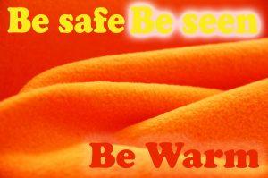 fluorescent fleece fabric be safe be seen