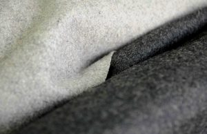 light and dark grey Italian Melton wool fabric