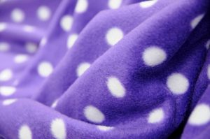 purple polka dot fleece