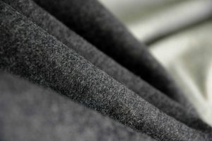 grey Italian Melton wool fabric