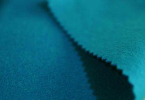 turquoise Italian Melton wool fabric