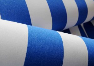 acrylic blue and white sea side awning fabric