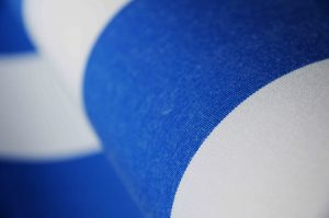 blue and white striped awning fabric