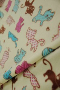 cartoon cat fleece fabric