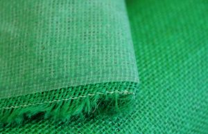 green laminated hessian fabric