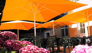 orange acrylic outdoor parasols