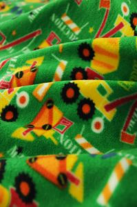 kids truck fleece fabric