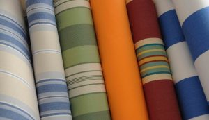 rolls of awning fabric