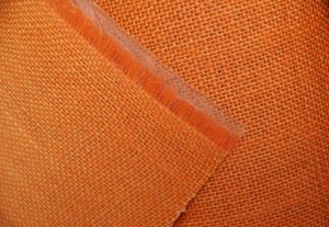 orange laminated hessian fabric £3.99 meter