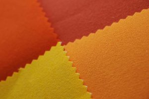 orange and yellow acrylic awning fabric