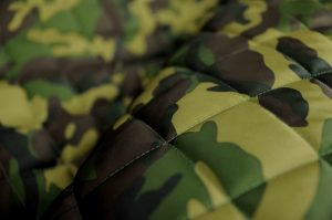 camouflage print quilted waterproof