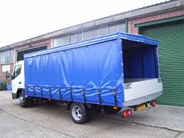 lorry covered in 610 PVC tarpaulin