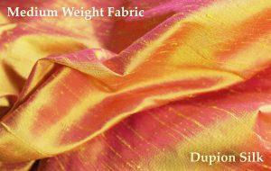 dupion silk pink gold