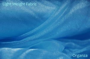 blue organza fabric