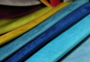 teal navy and turquoise plush luxury upholstery fabric