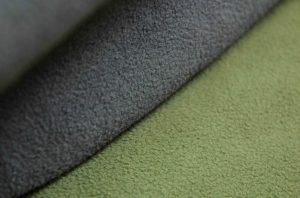 micro-fleece soft dry waterproof green and grey fabric
