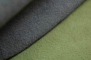 micro-fleece soft dry waterproof green and grey fabric