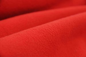 soft dry micro fleece waterproof fabric bright red