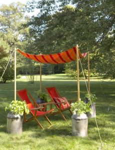 DIY orange garden shade