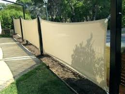 awning fabric as garden fencing