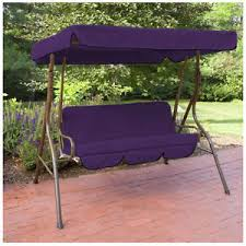purple swing chair