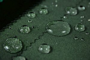 green shades of waterproof polyester fabric