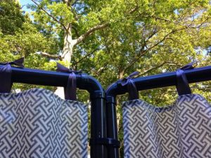 diy pvc pipe garden fabric screen