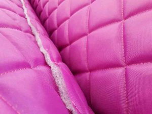 cerise waterproof 4 oz quilted fabric