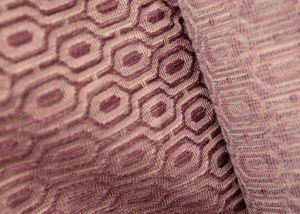 dusky pink geometric design heavy curtain fabric