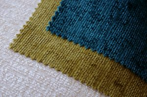 cream lime and teal Elite chenille upholstery fabric