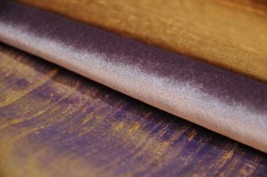 purple and gold dupion silk and velvet upholstery fabric