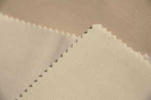 cream PVC Panama waterproof wipe clean cotton drill fabric