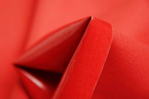 Red PVC Coated Panama Fabric