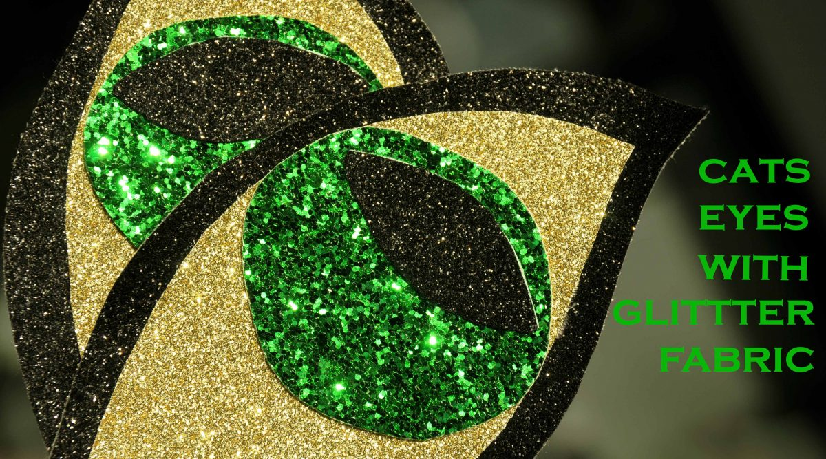 Halloween Glitter Fabric Cat Eyes