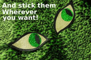 green leopard print with glitter eyes