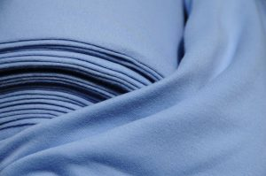 sky blue tubular knitted jersey fabric 46 cm