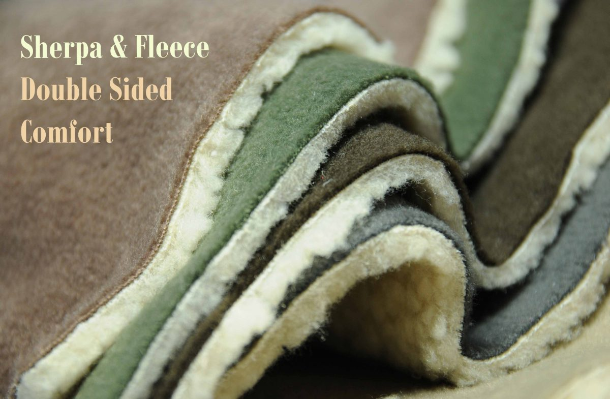 Fleece and Sherpa : Double Sided For Double the Comfort